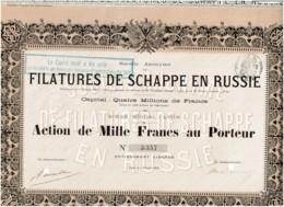 69-FILATURES DE SCHAPPE EN RUSSIE. SA DES ...  LYON   1898 - Shareholdings