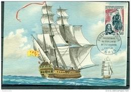 CM-Carte Maximum Card # 1965-France #Tricentenaire De L'Ile Bourbon (Réunion)# Voilier,Segelschiff # Paris  (Edit. - Cartes-Maximum