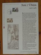 Document Officiel FDC 09-503 René D'Anjou Moyen Age Medieval History 2009 - Geschichte