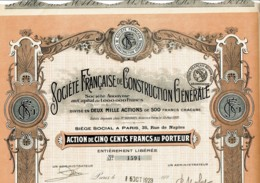 75-CONSTRUCTION GENERALE. STE FSE DE ...  Cadre DECO - Shareholdings