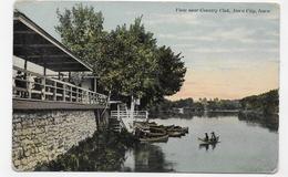 (RECTO / VERSO) IOWA CITY EN 1911 - VIEW NEAR COUNTRY CLUB - BEAU TIMBRE ET FLAMME - CPA VOYAGEE - Iowa City