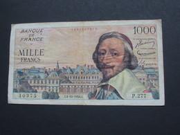 1000 Francs RICHELIEU - 4-10-1956   **** EN ACHAT IMMEDIAT **** - 1871-1952 Gedurende De XXste In Omloop