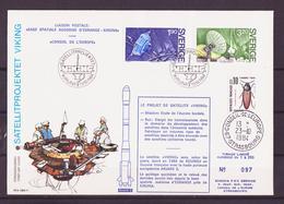 Espace 1984 Suède - Sweden - Schweden FDC Y&T N°1287 à 1288 - Michel N°1305 à 1306 - Conseil De L'Europe - FDC & Gedenkmarken