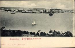 Cp Pola Pula Kroatien, Kriegshafen, Kuk Kriegsmarine, Oliveninsel Werft - Croatie