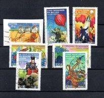 B387-3 France N° 3788 à 3794 Avec Oblitérations Rondes - Used Stamps