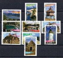 B387-4 France N° 3814 à 3823 Avec Oblitérations Rondes - France