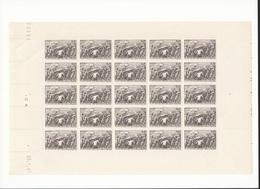 Feuille Complète Du N°497 Secours National 1f+ 2f Brun-violet . - Full Sheets
