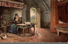 RAPHAEL TUCK & SONS  OILETTE  FLEMISH COTTAGE HOMES DE JOHN A. HEYERMANS - Peintures & Tableaux