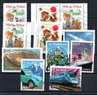 B387-7 France N° 3467 à 3468 + P3467A + 3470 à 3475 Avec Oblitérations Rondes - Used Stamps