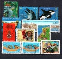 B387-8 France N° 3485 à 3495 Avec Oblitérations Rondes - Used Stamps