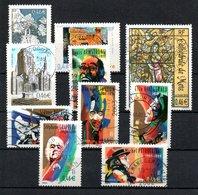 B387-9 France N° 3496 à 3505 Avec Oblitérations Rondes - Used Stamps