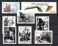 B387-10 France N° 3506 + 3507 + 3519 à 3523 Avec Oblitérations Rondes - Used Stamps