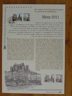 Document Officiel FDC 11-501 Cathédrale De Metz 57 Moselle 2011 - Eglises Et Cathédrales