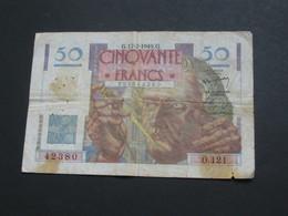 50 Francs LE VERRIER - 17-2-1949   **** EN ACHAT IMMEDIAT **** - 1871-1952 Anciens Francs Circulés Au XXème