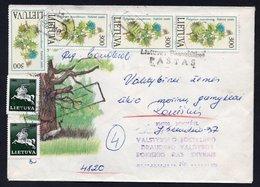 10 NOV 1992 Rokiškis, Lithuania Cover Sent To Local GOVERNMENT. With Michel No. LT 500 (4), 493(2) Stamps - Lituanie