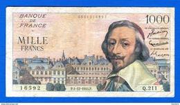 1000 Fr  Du 1/12/ 1955 - 1871-1952 Anciens Francs Circulés Au XXème