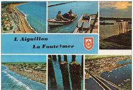 Cpsm  85 L'Aiguillon Sur Mer , La Faute Sur Mer , Multivues, écrite 1975 - La Tranche Sur Mer