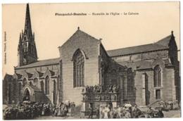 CPA 29 - PLOUGASTEL DAOULAS (Finistère) - Ensemble De L'Eglise. Le Calvaire (animée)- Coll. Villard - Plougastel-Daoulas