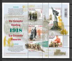 """België 2018 Velletje """" De Groote Oorlog 1918 """" (**) - Belgique"""