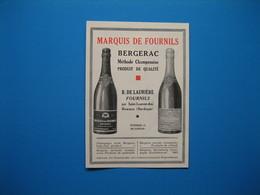(1931) Vin Mousseux Bergerac - Méthode Champenoise - MARQUIS DE FOURNILS - R. De Laurière - St-Laurent-des-Hommes - Non Classificati