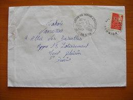 Réunion : Lettre Ayant Circulé Au Départ De Salazie Avec Cachet «Courrier Déposé à Mafate Au Cœur De L'Ile» (1999) - Reunion Island (1852-1975)