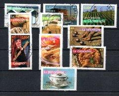 B387-12 France N° 3559 à 3568 Avec Oblitérations Rondes - France