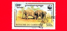 Nuovo Oblit. - CAMBOGIA - 1997 - Fauna Protetta - WWF - Elefante Malese (Elephas Maximus Hirsutus) - 500 - Cambogia