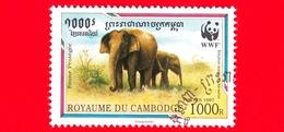 Nuovo Oblit. - CAMBOGIA - 1997 - Fauna Protetta - WWF - Elefante Malese (Elephas Maximus Hirsutus) - 1000 - Cambogia