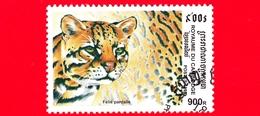 Nuovo Oblit. - CAMBOGIA - 1998 - Felini Predatori - Gatti Selvatici - Gattopardo (Felis Pardalis) - 900 - Cambogia