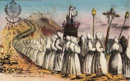 13 MARSEILLE  N D De La Garde  Procession Des Pénitents 1835 - Notre-Dame De La Garde, Ascenseur