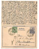 W262 / DEUTSCHES REICH - Außergewöhnlicher Aufbrauch Einer Postreiter-Doppelkarte 11.12.23 Reisholz-Cöln  29.12.23v Cöln - Deutschland