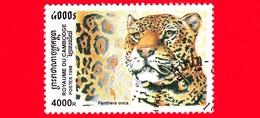 Nuovo Oblit. - CAMBOGIA - 1998 - Felini Predatori - Gatti Selvatici - Giaguaro (Panthera Onca) - 4000 - Cambogia