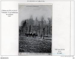 63  - St.BONNET D'ORCIVAL - Chateau De Polagnat (Attelage) - Autres Communes