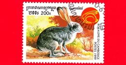 Nuovo Oblit. - CAMBOGIA - 1999 - Capodanno Cinese  - Anno Del Coniglio - Rabbit (Family Leporidae) - 200 - Cambogia