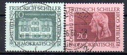 """(DDR-BM1) DDR  """"200.Geburtstag Von Friedrich Schiller"""" Mi 733/34 Sauber Gestempelt - [6] Democratic Republic"""