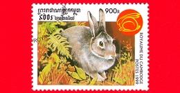 Nuovo Oblit. - CAMBOGIA - 1999 - Capodanno Cinese  - Anno Del Coniglio - Rabbit (Family Leporidae) - 900 - Cambogia