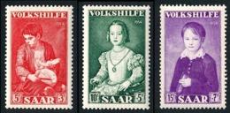 SARRE 1954 - Yv. 334 335 Et 336 NEUF   Cote= 2,20 EUR - Œuvres Populaires (3 Val.)  ..Réf.DIV20205 - Neufs