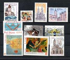 B387-13 France N° 3576 à 3586 Avec Oblitérations Rondes - Used Stamps