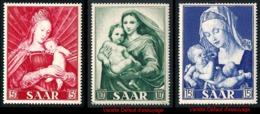 SARRE 1954 - Yv. 331 332 Et 333 ** Variétés  Cote= 6,90 EUR - Année Mariale (3 Val.)  ..Réf.DIV20204 - 1947-56 Occupation Alliée