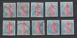 YT/  1233   Lot De 10 Timbres - 1959-60 Marianne (am Bug)