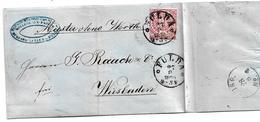 NDP168 / THURN & TAXIS-Stempel, Nachverwendung FULDA 27.8.1870, Muster Ohne Wert, Drucksache - Norddeutscher Postbezirk