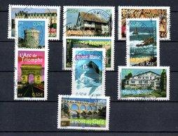 B387-14 France N° 3595 à 3604 Avec Oblitérations Rondes - France