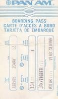 PAN AM Boarding Pass Flight JFK - Zagreb Yugoslavia - Instapkaart