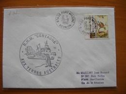 """Réunion : Deux Plis Au Départ Du Port (1990) Et Cachets De Navires """"RHM Centaure"""" Et """"Lowland Lancer London"""" - Réunion (1852-1975)"""