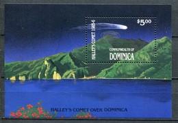 Dominica Mi# Block 115 Postfrisch MNH - Space Halley's Comet - Dominica (1978-...)