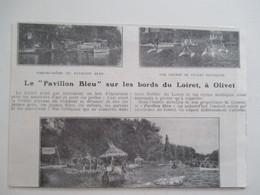 (Année 1924) Loiret - OLIVET - Course De Cycles Nautiques  - Ancienne Coupure De Presse - Historische Dokumente