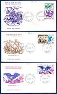 Mali A 273/75 Fdc Bicentenaire Des USA, Aigle, Cheval, Amérindiens, Clôche, Voilier - Us Independence