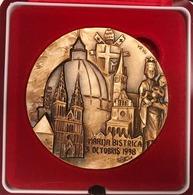 Beatus Aloysius Stepinac 1898-1998 Zagreb Medaglia Grande Modulo - Profesionales/De Sociedad