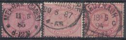 Mi- Nr. 37, 3 Versch. Farben, Sauber Gestempelt - Used Stamps