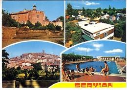 Servian 4 Vues: L'ermitage Camping Municipal Vue Générale La Piscine - Frankreich